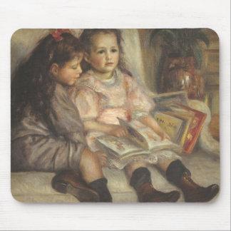 Portrait of Caillebotte Children by Pierre Renoir Mouse Mat