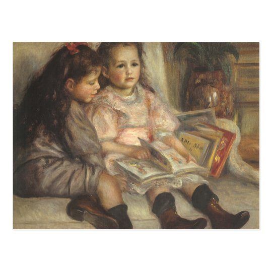 Portrait of Caillebotte Children by Pierre Renoir Postcard