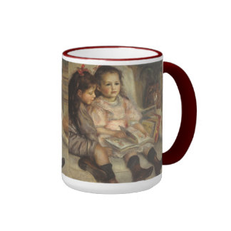 Portrait of Caillebotte Children by Pierre Renoir Ringer Mug
