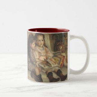 Portrait of Caillebotte Children by Pierre Renoir Two-Tone Mug