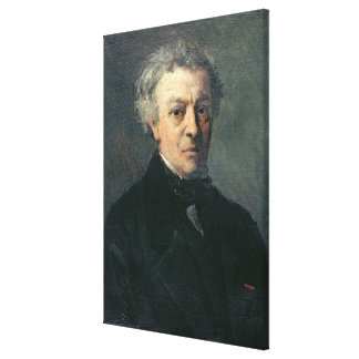 Portrait of Camille Corot  c.1863 Stretched Canvas Print