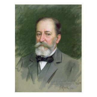 Portrait of Camille Saint-Saens  1903 Postcard