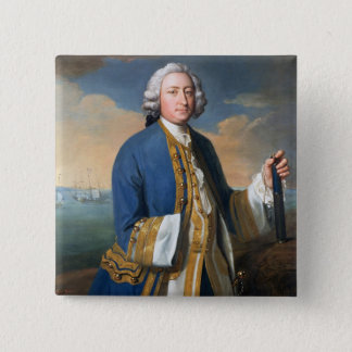 Portrait of Captain David Brodie (1709-87) Holding 15 Cm Square Badge