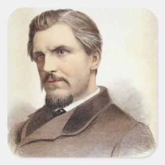 Portrait of Captain James Augustus Grant (1827-87) Square Sticker