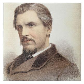 Portrait of Captain James Augustus Grant (1827-87) Tile