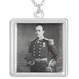 Portrait of Captain Robert Falcon Scott Silver Plated Necklace