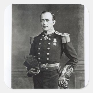 Portrait of Captain Robert Falcon Scott Square Sticker