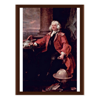 Portrait Of Captain Thomas Coram By Hogarth Postcard