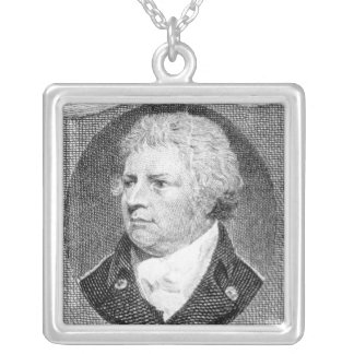 Portrait of Captain Thomas Foley Silver Plated Necklace