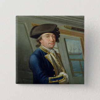Portrait of Captain William Locker (1731-1800) 176 15 Cm Square Badge