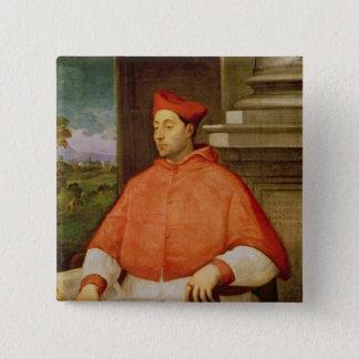 Portrait of Cardinal A. Pallavicini, 1512 15 Cm Square Badge