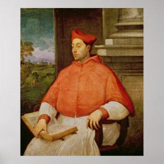 Portrait of Cardinal A. Pallavicini, 1512 Poster