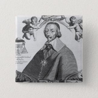 Portrait of Cardinal de Richelieu 15 Cm Square Badge