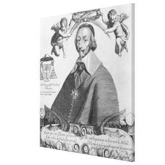 Portrait of Cardinal de Richelieu Canvas Print