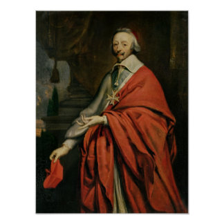 Portrait of Cardinal de Richelieu Poster