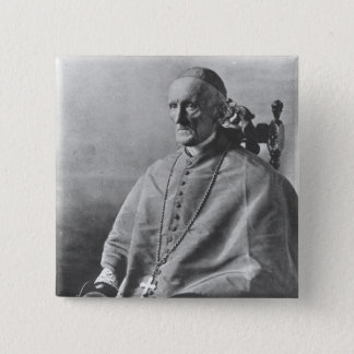 Portrait of Cardinal Manning 15 Cm Square Badge