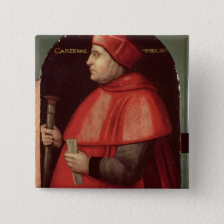 Portrait of Cardinal Thomas Wolsey 15 Cm Square Badge