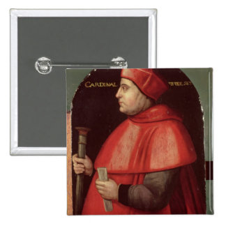Portrait of Cardinal Thomas Wolsey 15 Cm Square Badge