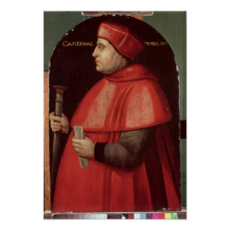 Portrait of Cardinal Thomas Wolsey Poster