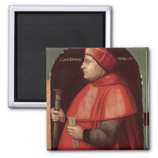 Portrait of Cardinal Thomas Wolsey Square Magnet