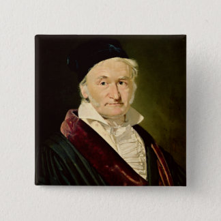 Portrait of Carl Friedrich Gauss, 1840 15 Cm Square Badge