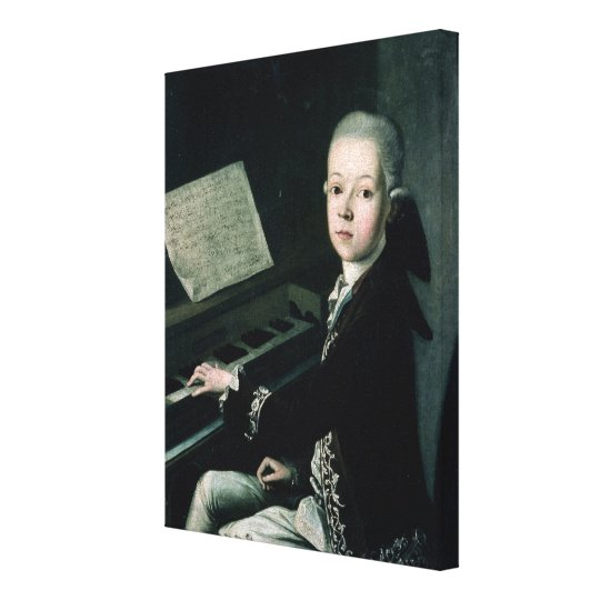 Portrait of Carl Graf Firmian at the piano Canvas Print