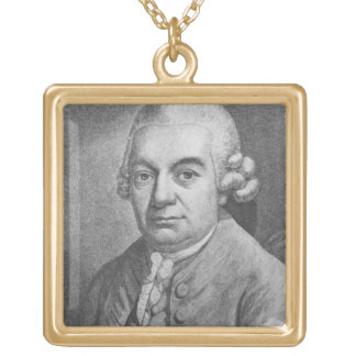 Portrait of Carl Philipp Emanuel Bach (1714-88) (e Gold Plated Necklace