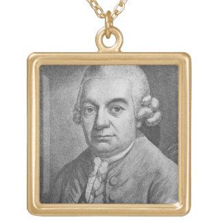 Portrait of Carl Philipp Emanuel Bach (1714-88) (e Square Pendant Necklace