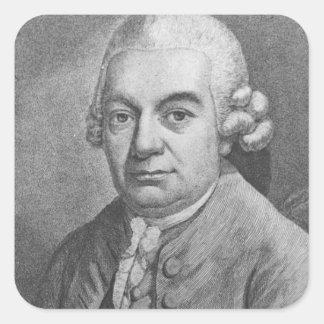 Portrait of Carl Philipp Emanuel Bach (1714-88) (e Square Sticker