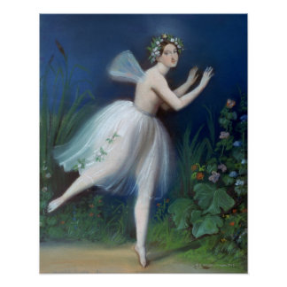 'Portrait of Carlotta Grisi in Giselle' by Poster