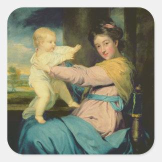 Portrait of Caroline, Duchess of Marlborough with Square Sticker