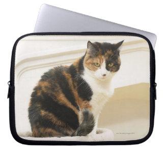 Portrait of cat 2 computer sleeves