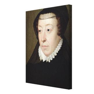 Portrait of Catherine de Medici Canvas Print