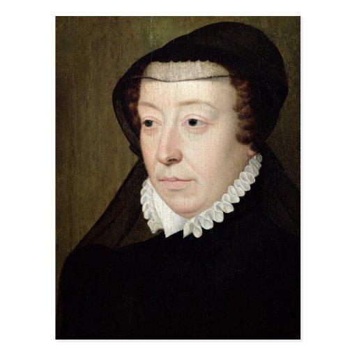 Portrait of Catherine de Medici Post Card