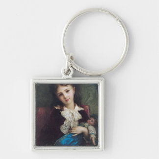 Portrait of Catherine du Bouchage, 1879 Silver-Colored Square Key Ring