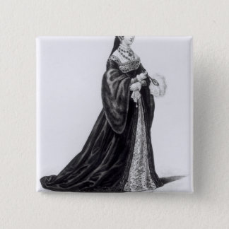 Portrait of Catherine engraved by Hargrave 15 Cm Square Badge