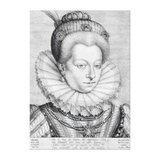 Portrait of Catherine Henriette Canvas Print