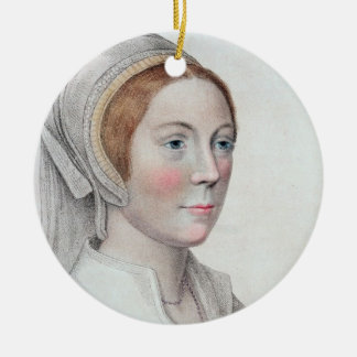 Portrait of Catherine Howard (1520-42) engraved by Christmas Ornament