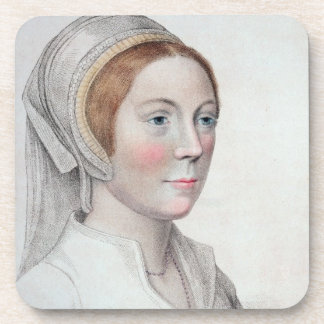 Portrait of Catherine Howard (1520-42) engraved by Drink Coaster