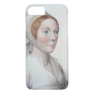 Portrait of Catherine Howard (1520-42) engraved by iPhone 8/7 Case