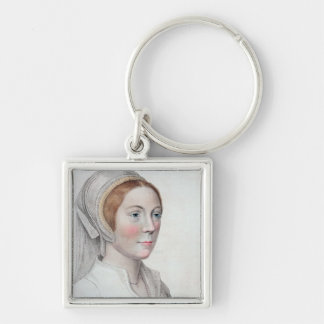 Portrait of Catherine Howard (1520-42) engraved by Keychain