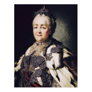 Portrait of Catherine II  of Russia Postcard