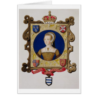 Portrait of Catherine Parr (1512-48) 6th Queen of Card