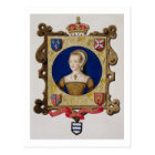Portrait of Catherine Parr (1512-48) 6th Queen of Postcard