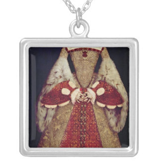 Portrait of Catherine Parr, 1545 Silver Plated Necklace