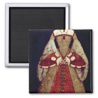 Portrait of Catherine Parr, 1545 Square Magnet