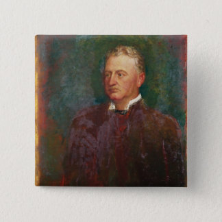 Portrait of Cecil John Rhodes  1898 15 Cm Square Badge