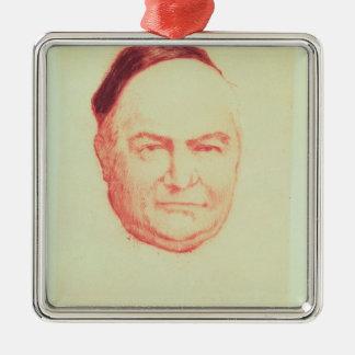 Portrait of Charles Augustin Sainte-Beuve Silver-Colored Square Decoration