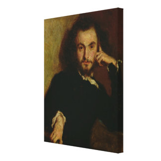 Portrait of Charles Baudelaire  1844 Canvas Print