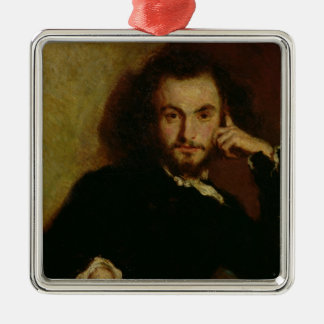 Portrait of Charles Baudelaire  1844 Christmas Ornament